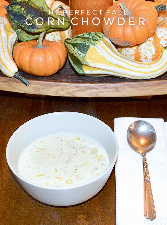 The Perfect Fall Corn Chowder (via Bubby and Bean)