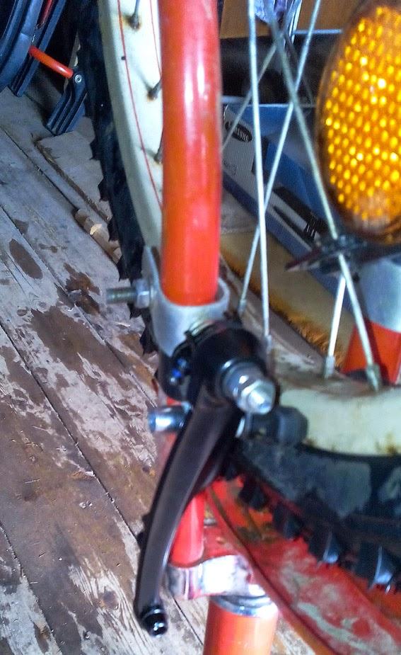 Установка v-brake тормоза на каму