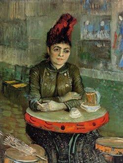 """Mulher sentada no """"Café du Tambourin""""- 1887"""
