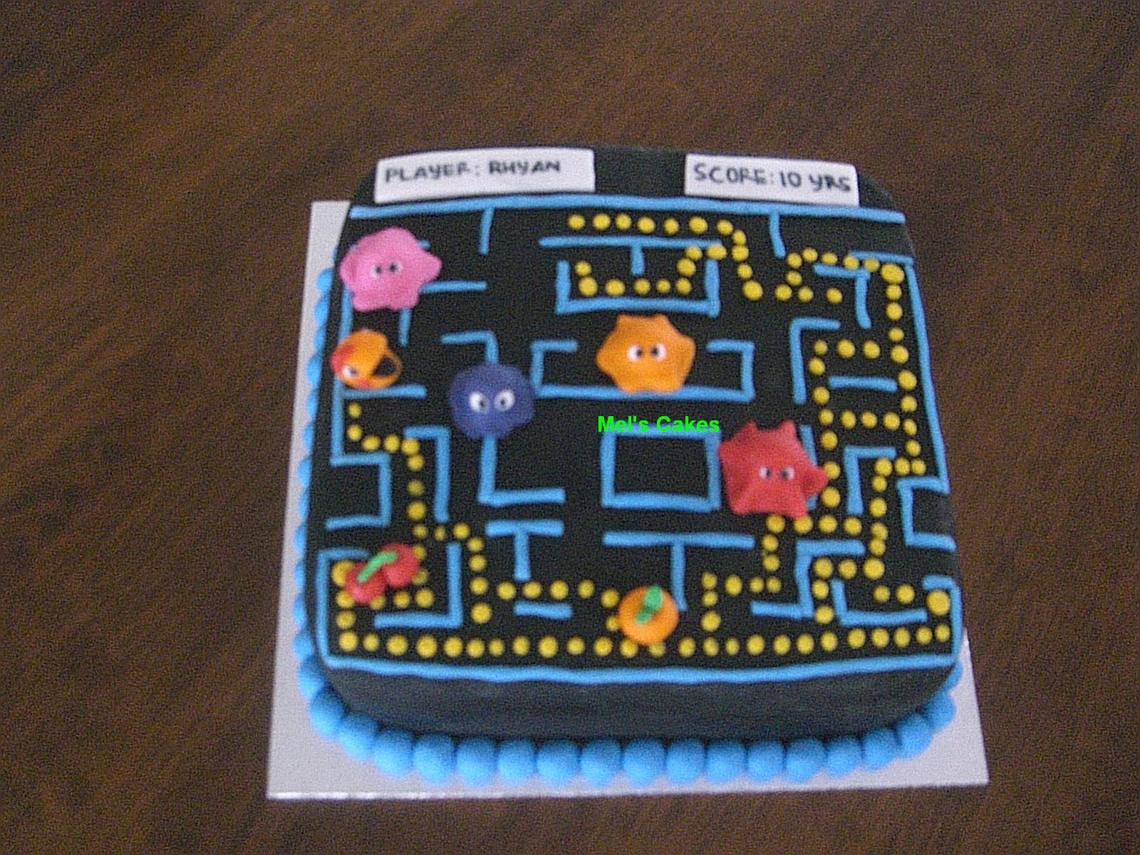 Welcome To Mels Cakes Pacman Birthday Cake