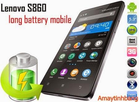 Smartphone lenovo S860 pin khủng