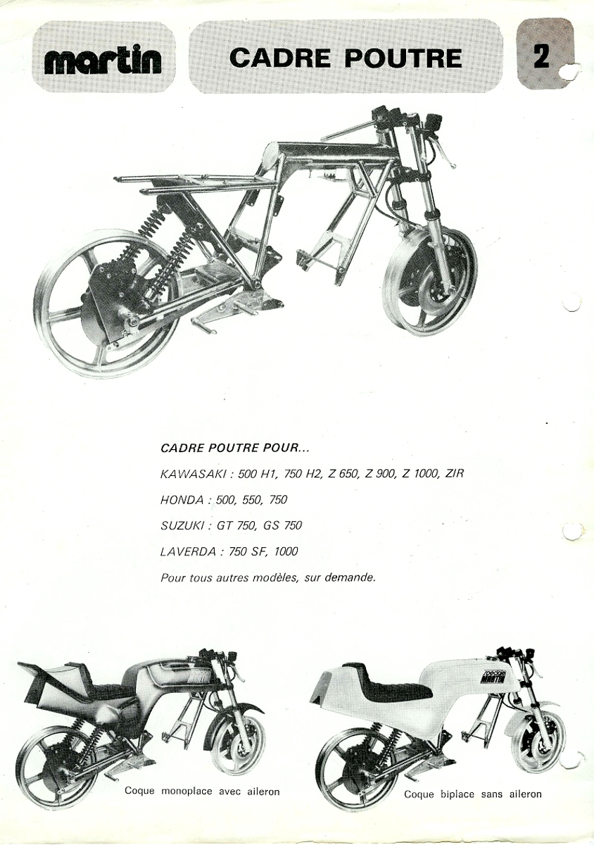 all information world: Moto Martin Race Frames