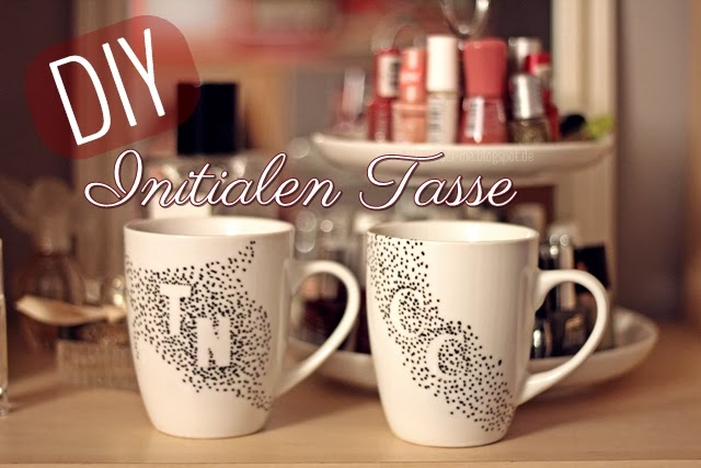 diy video initialen tasse you will remember me. Black Bedroom Furniture Sets. Home Design Ideas