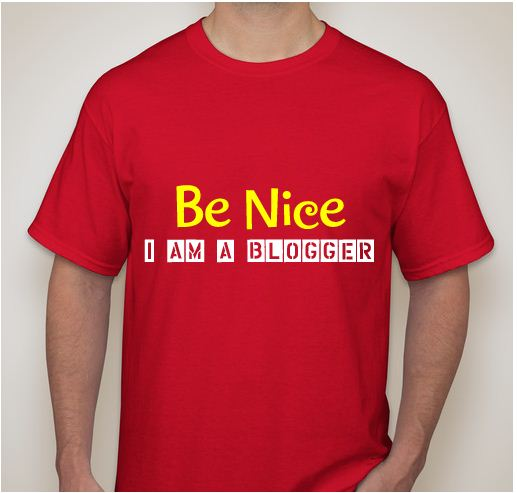 "Kaos Blogger Warna Merah ""Be Nice I AM A Blogger"" #2"