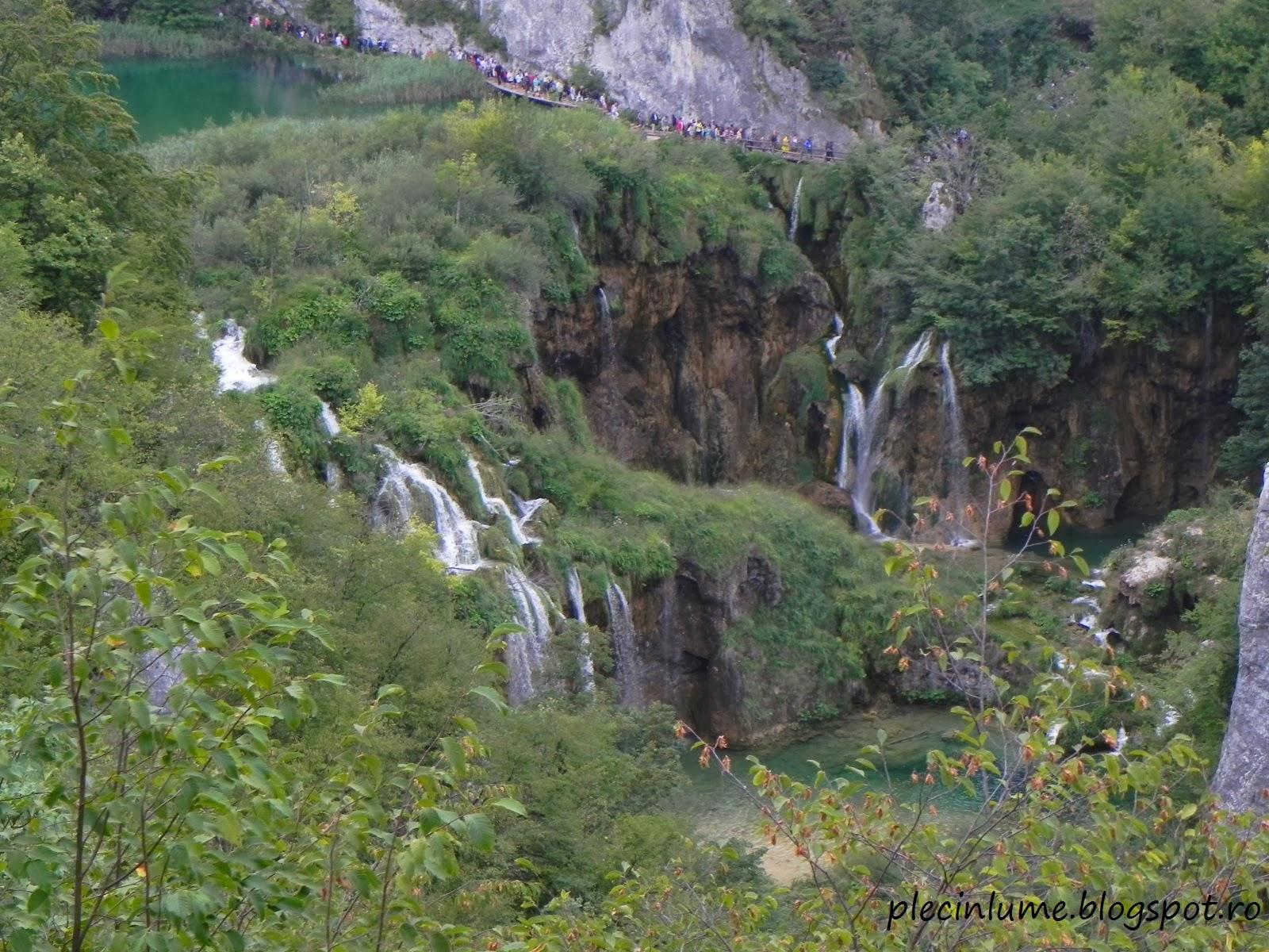Cascade la lacurile Plitvice