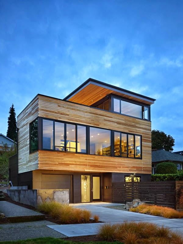 Casas minimalistas y modernas casa moderna frente al lago for Casa minimalista uy