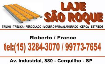 LAJES SÃO ROQUE - TRELIÇA - PERGOLADO - MOURÃO PARA ALAMBRADO - CERCA - ESTRIBOS