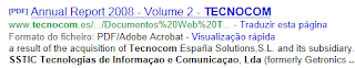 Portal Empresas; Portugal; TI; Redes Informática; Computadores; Tecnologias de Informação e Comunicação Unipessoal, Lda; SSTIC; Subsidiária; Multinacional Espanhola; Tecnocom
