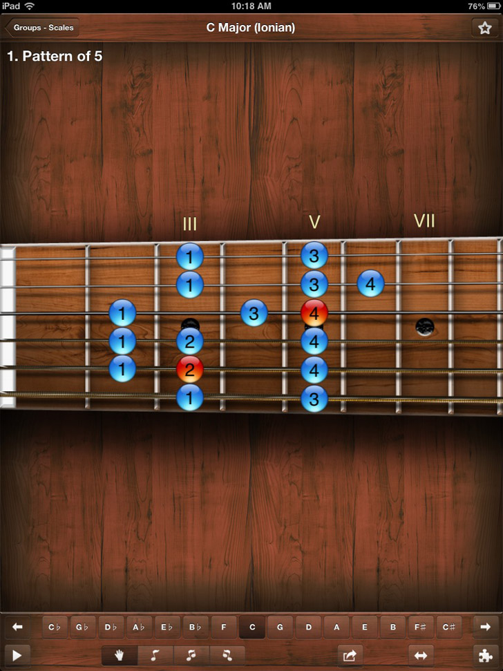 Star Scales HD For Guitar App By JoyApps s.r.o. - FreeApps.ws