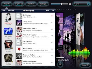 Reflection Music Player  for iPad Play List