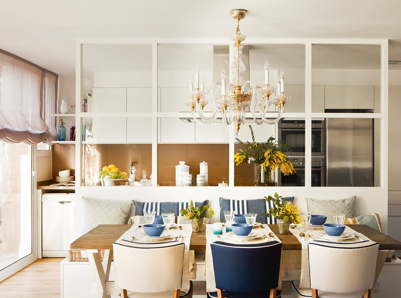 Simplesmente decor um aconchego de casa - Cocina salon separados cristal ...