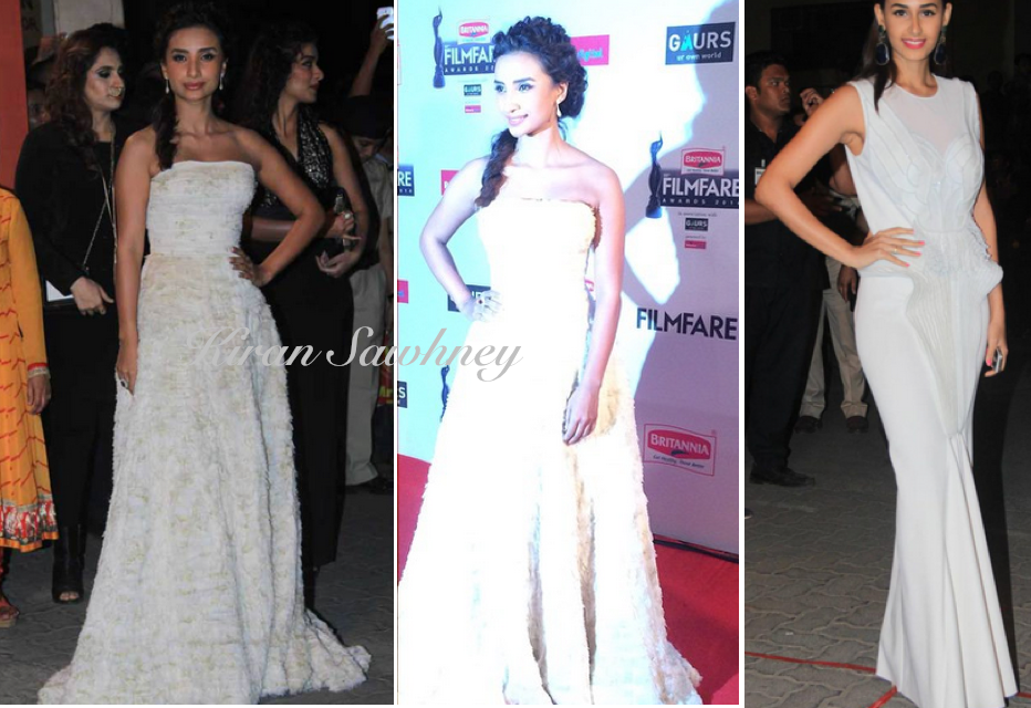 White gowns at Filmfare awards 2015