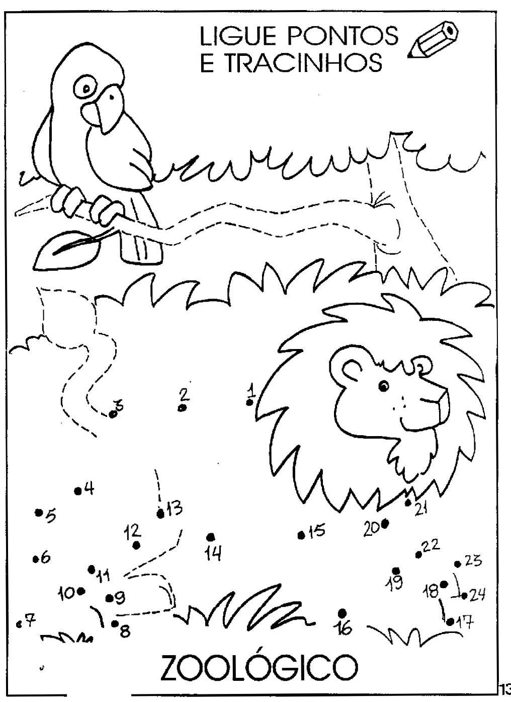 Desenhos Para Colori Ligar pontos animais desenhar