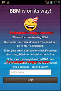 register email bbm android