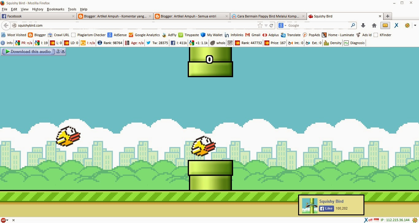Bermain Squishy Bird Game Tandingan Flappy Bird