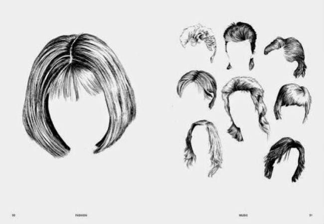 desenhos para imprimir cortes cabelos ondulados