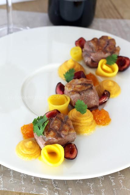 magret de canard plancha mangue abricots patate douce