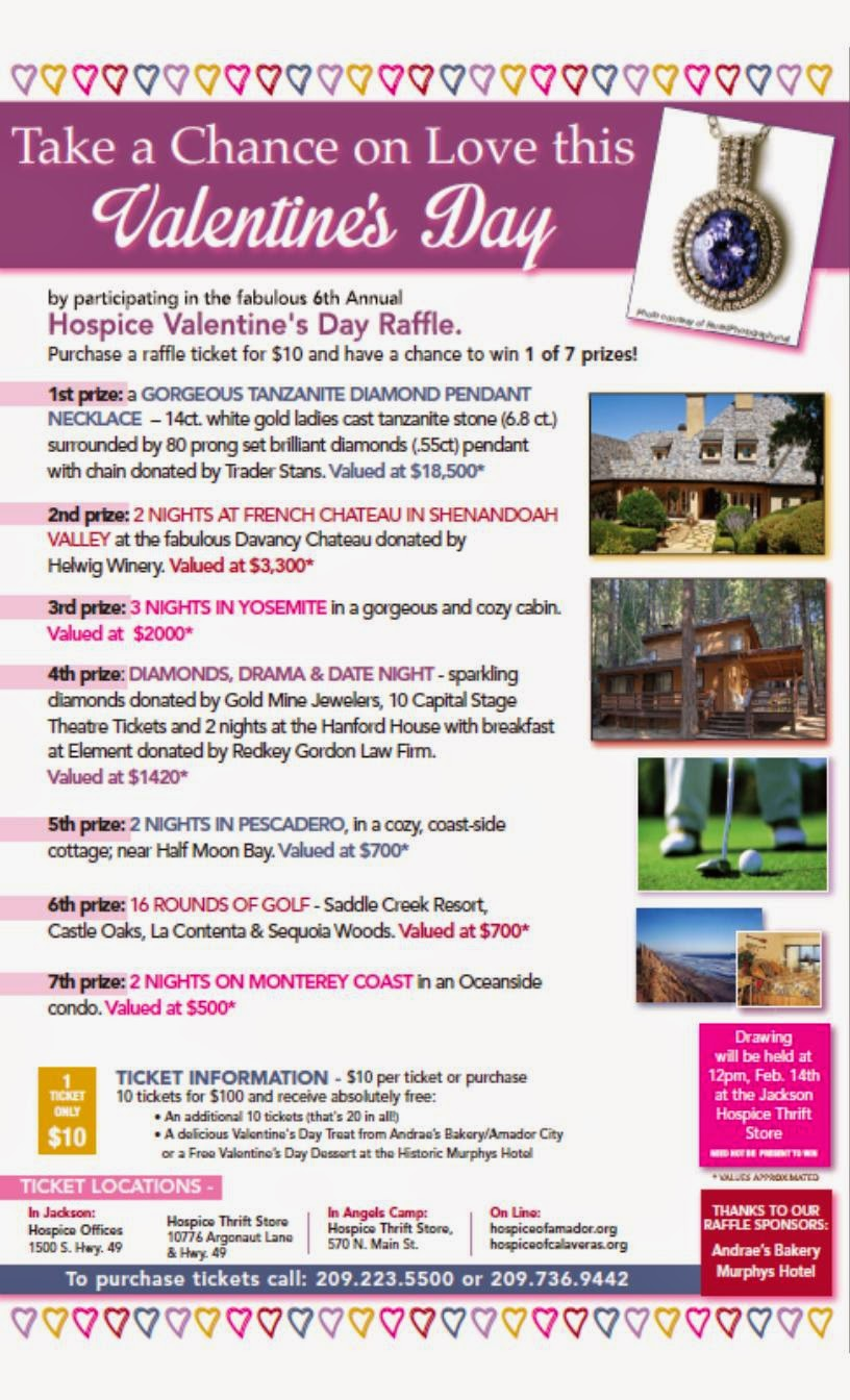 Hospice Valentine's Day Raffle - Drawing held February 14