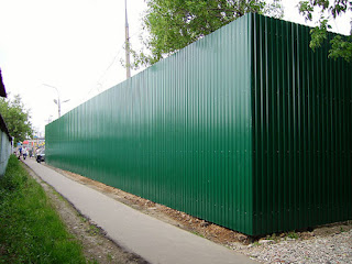 Забор из профлиста. Фото 17