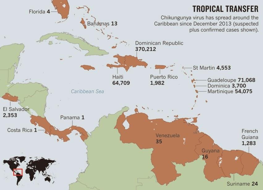 Chikungunya map