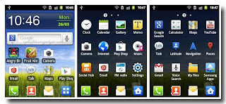 Samsung Galaxy Pocket S5300 - home screen
