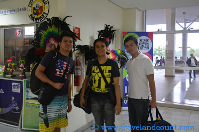 Airport Arrival (with Dinagyang costumes at the back)