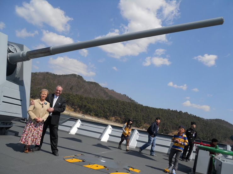April 4 on battleship in Jinhae