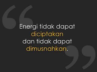 Bunyi Hukum Kekekalan Energi
