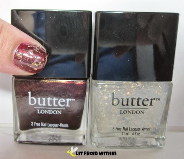 bottle shot:  Butter London Rebel Fox and Brass Monkey