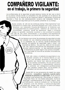 Campaña SPV para la autoprotección del vigilante