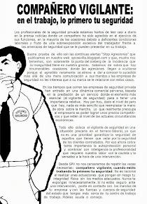 Campaña SPV para la autoprotección del vigilante