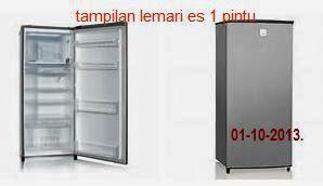 harga kulkas baru 2013