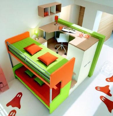 Muebles modernos para el dormitorio infantil for Muebles infantiles modernos