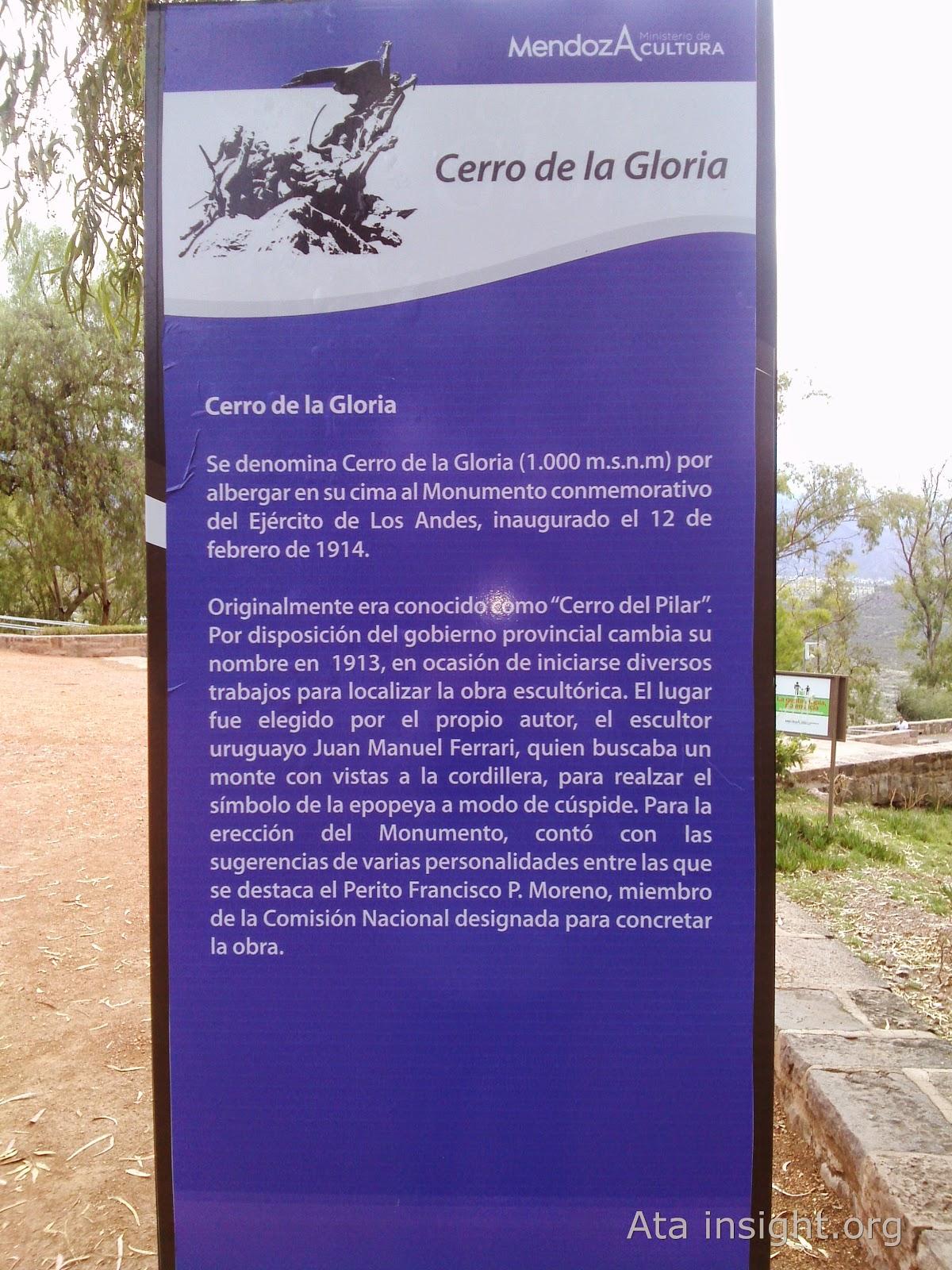 Cerro de la gloria Mendoza