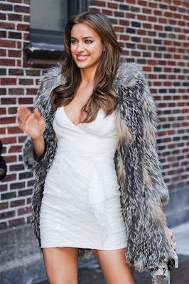 Irina Shayk In A Tight Minidress