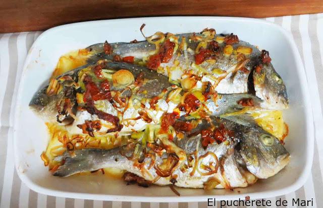 El pucherete de mari dorada al horno con ideal para - Cocinar verduras al horno ...