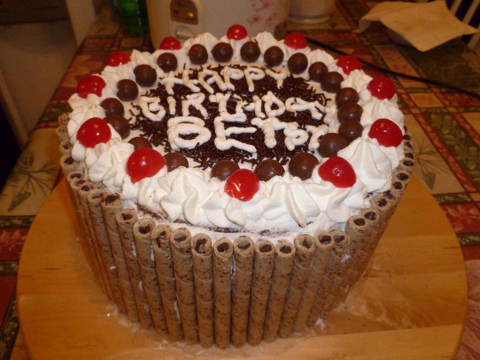 Gambar Cake Birthday Dapur Coklat Image Inspiration of Cake and