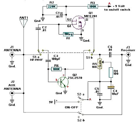 vhf uhf hf active antenna electronic circuit project vhf uhf hf active antenna electronic circuit project explanation