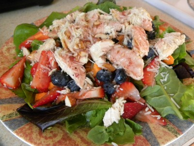 Cookin' with Super Pickle: Berry Almond Chicken Salad