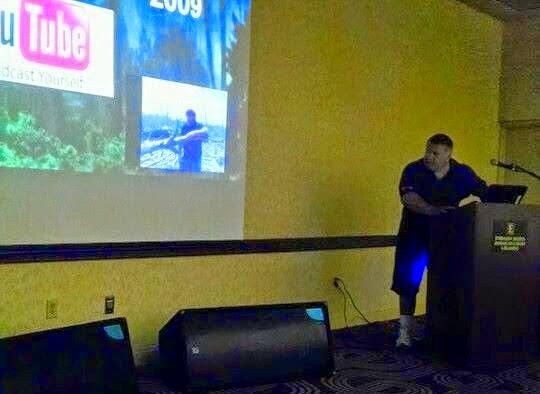 Tim Fasano speaking at Bigfoot Conference
