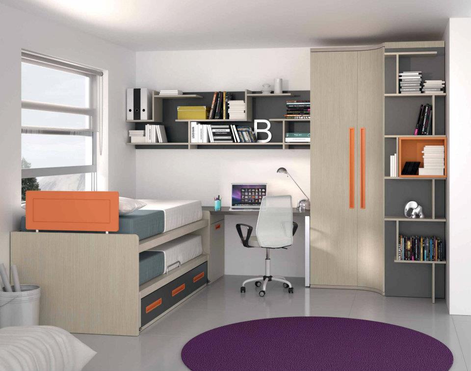 Dormitorios juveniles economicos - Decorar habitacion estudio ...