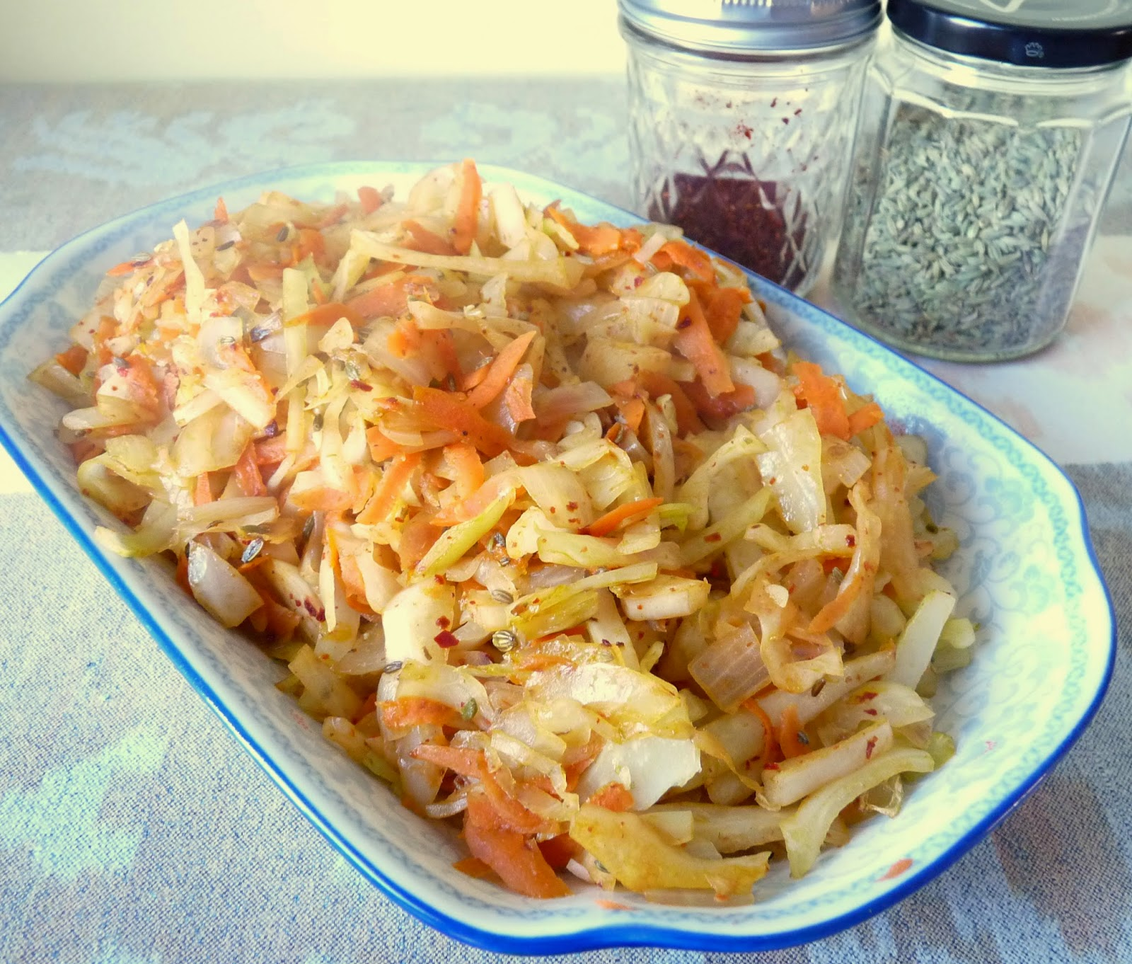 Cabbage with Fennel Seed & Hot Pepper Flakes