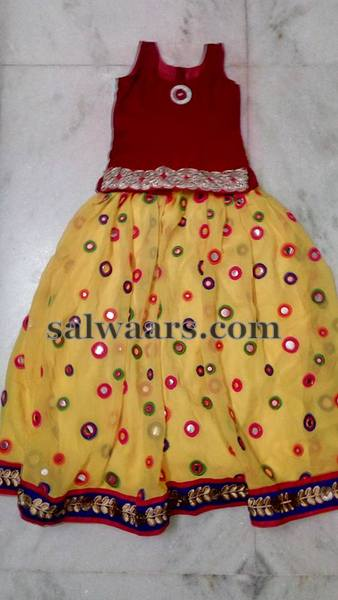 Light Lemon Yellow Mirror Lehenga