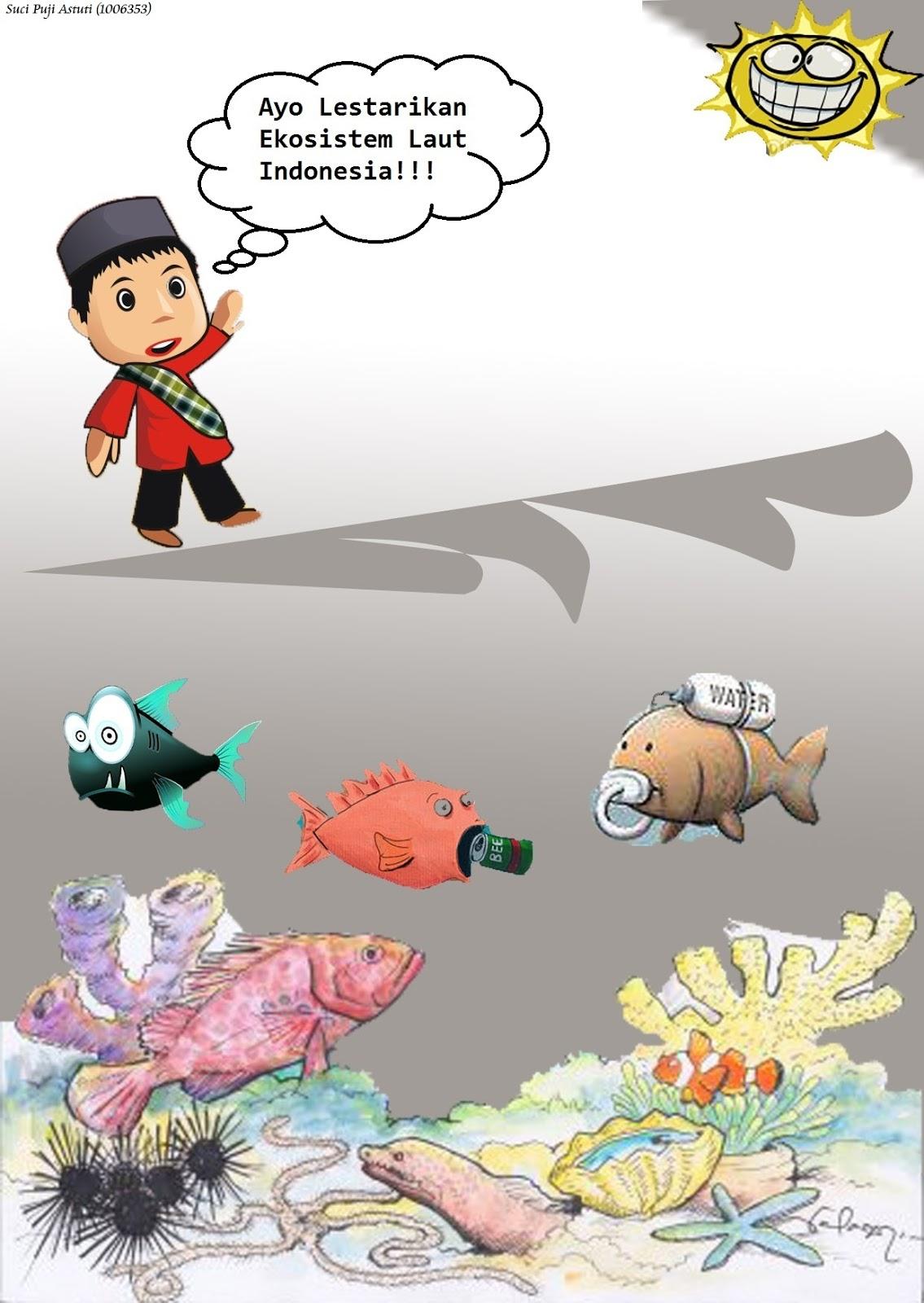 Judul : Kerusakan Ekosistem Laut