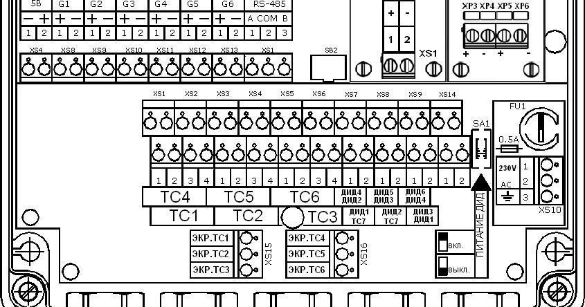 Тэм-104 схема расключения
