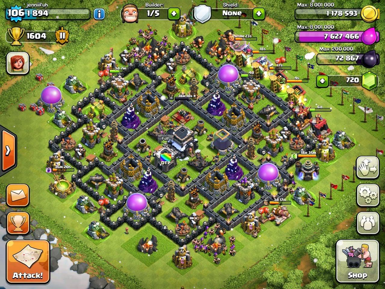Best defensive base clash of clans