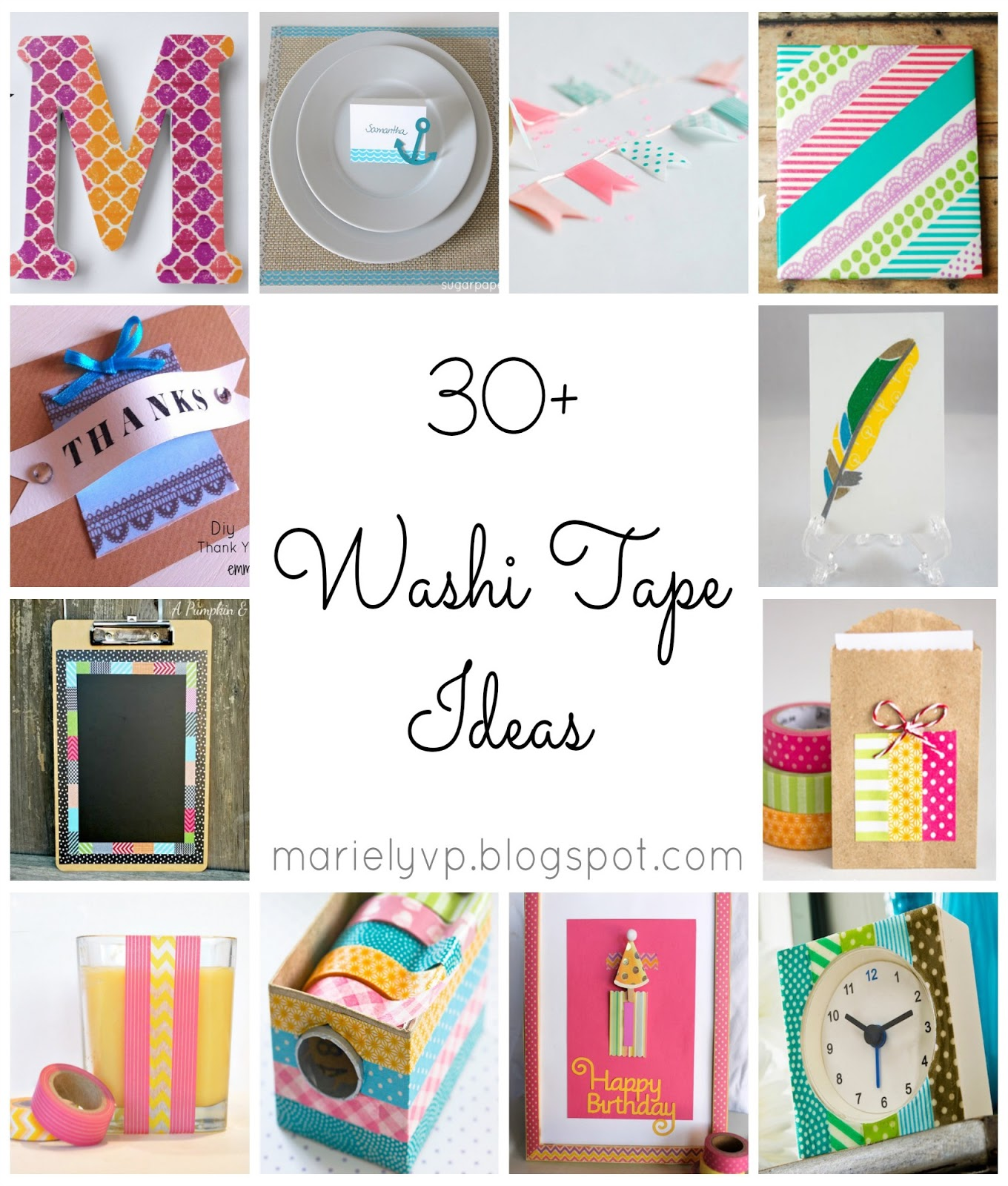 we read 30 washi tape ideas round up