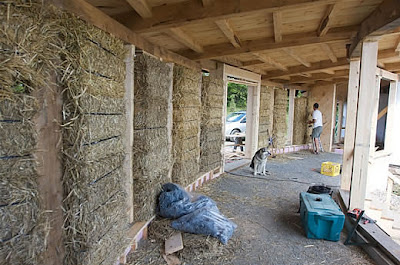 Life below zero can you build a green house with straw for Straw bale garage plans