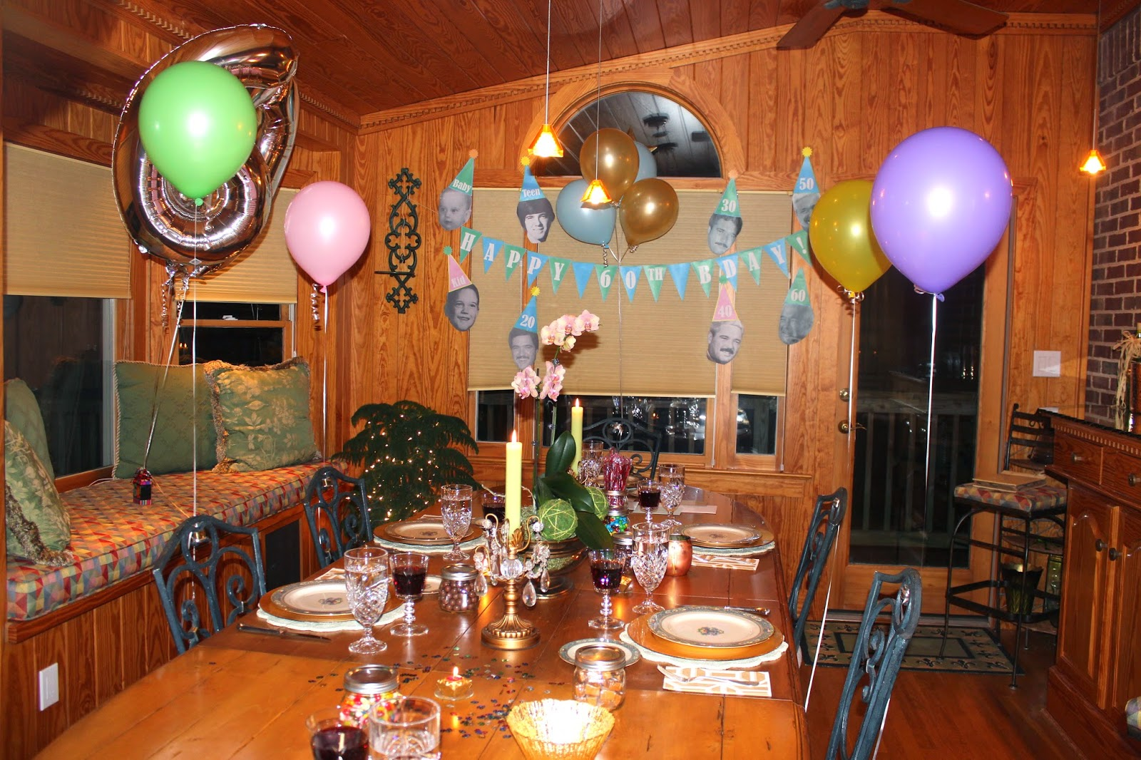The Pink Elephant 60th birthday party ideas round 1