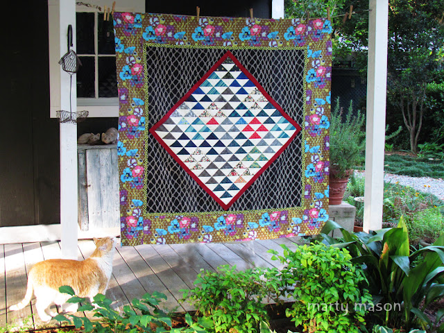 A Half-Square Triangle Quilt
